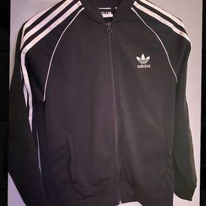 Adidas black and white zip up sweater